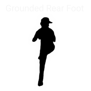 Grounded Rear Foot-Baseball Pitcher getting ready to pitch