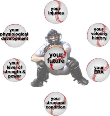 Baseball Catcher and phrases: Your injuries, velocity history, ERA, Structural Condition, level of strength & power, physiological development